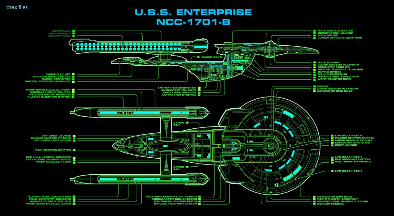 Star TrekStarshipEnterpriseSpaceshipGreenDiagram wallpaper