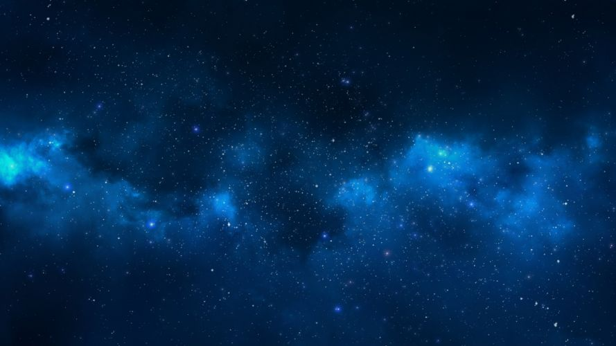 Stars Blue nebula wallpaper
