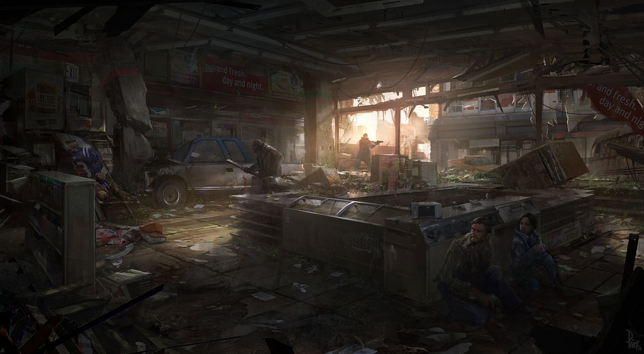 The Last of Us Apocalypse Store Hide Search Drawing wallpaper