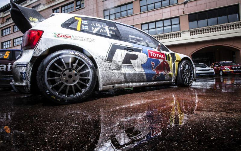 Volkswagen Polo Rally WRC Jari Matti Latvala Reflection Red Bull wheels wallpaper
