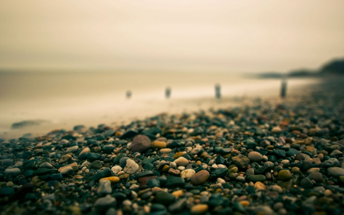 water landscapes rocks pebbles ocean beaches wallpaper