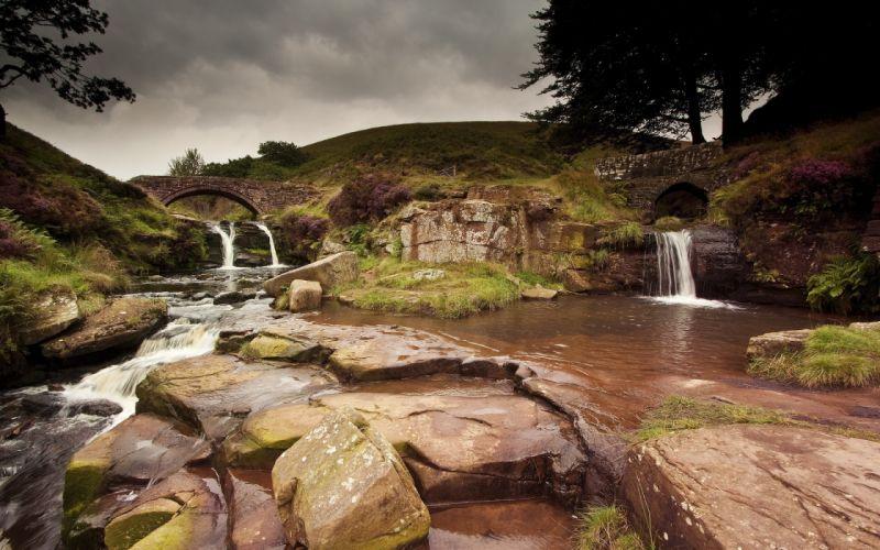 waterfall river wallpaper