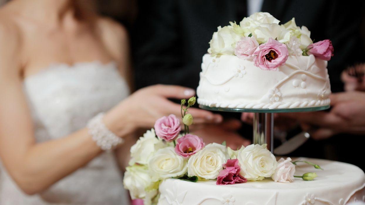 wedding bride cake wallpaper