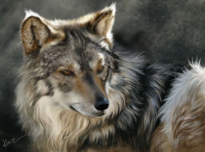 Wolves Painting Art Glance Animals wolf wallpaper