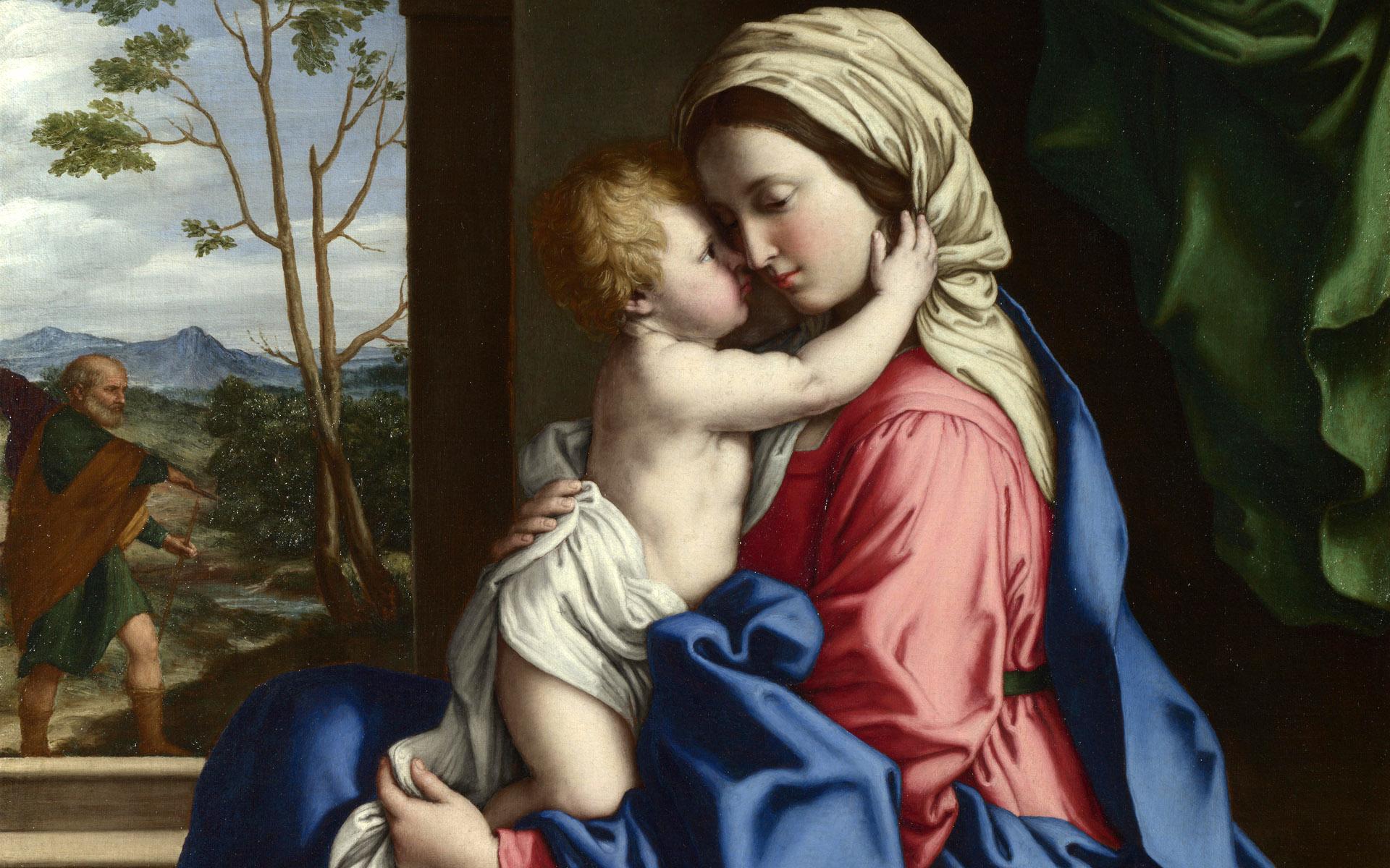 the holy mother baby jesus catholic religion wallpaper 1920x1200