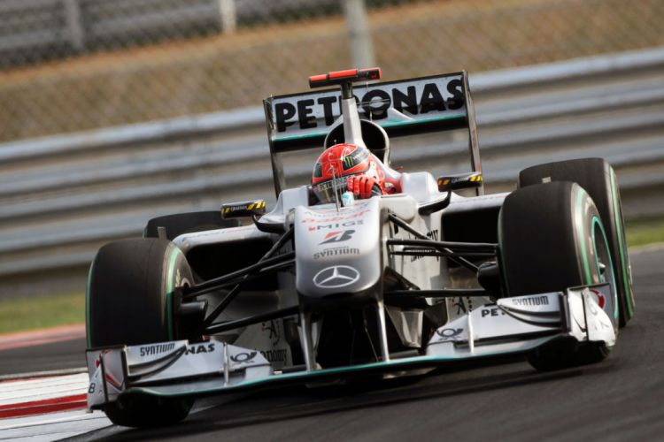 Yeongam Korea Micheal Schumacher Mercedes formula one wallpaper