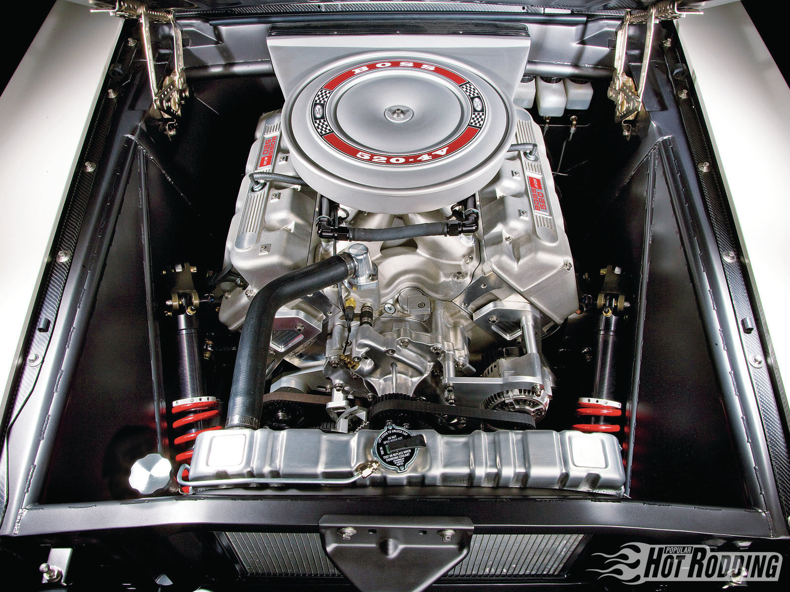 Ford Mustang Hot Rod Muscle Cars Engine Wallpaper
