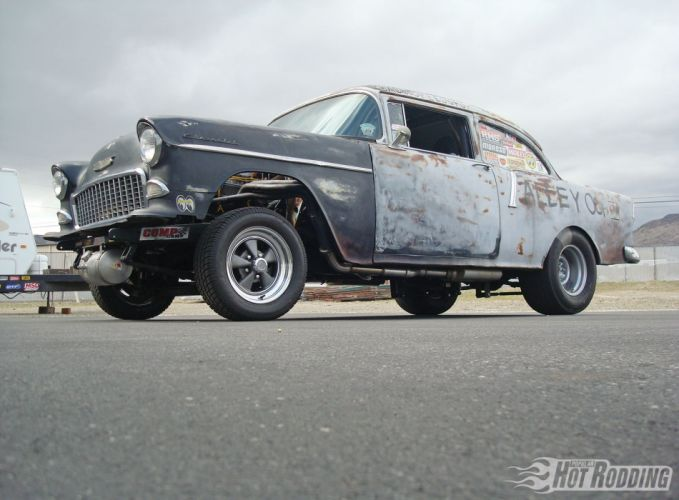 1955 Chevy 210 muscle cars hot rod drag racing race wallpaper