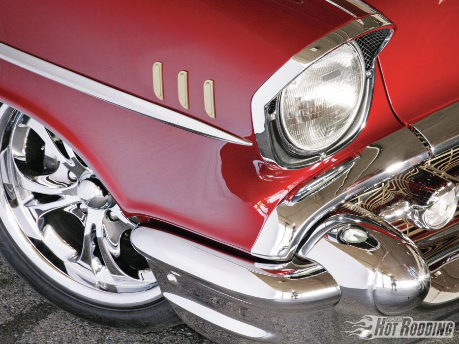 1957 Chevy Bel Air Caramel Apple classic cars hot rods       e wallpaper