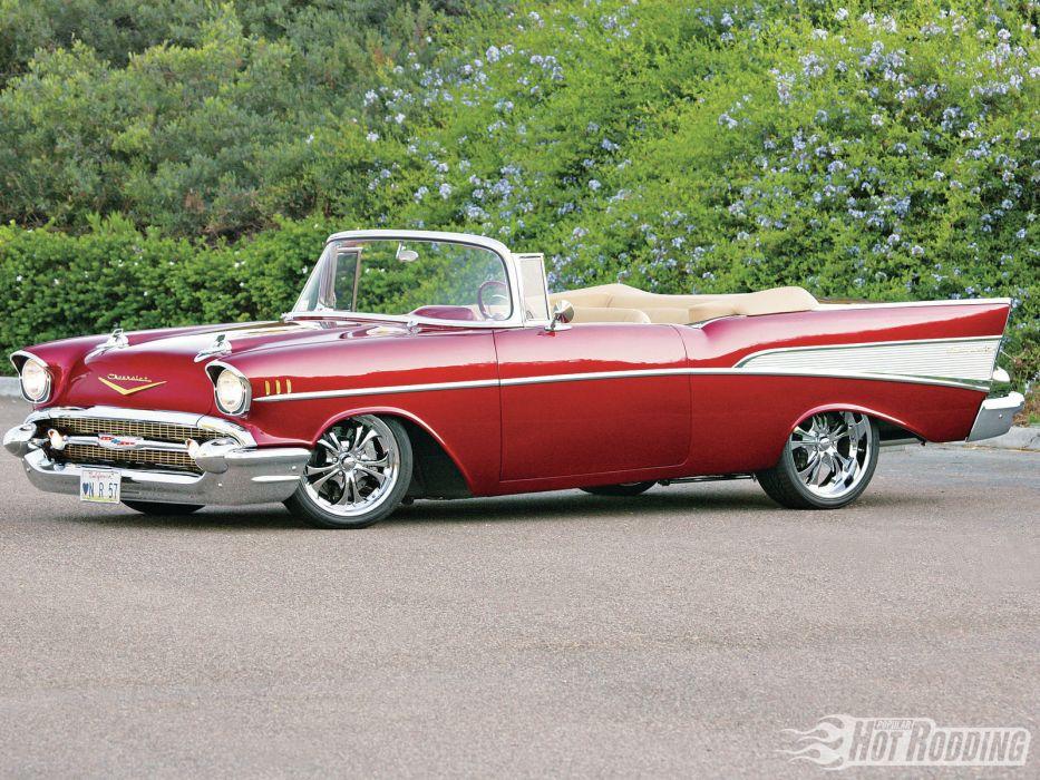 1957 Chevy Bel Air Caramel Apple classic cars hot rods     f wallpaper