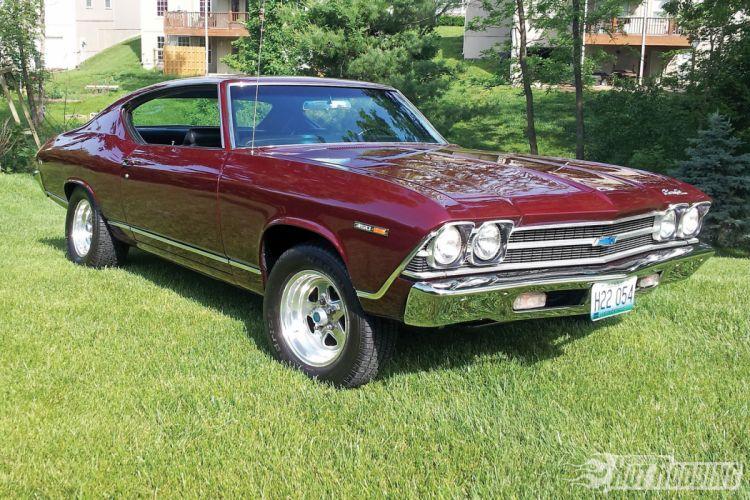 1969 Chevy Malibu hot rod muscle cars wallpaper