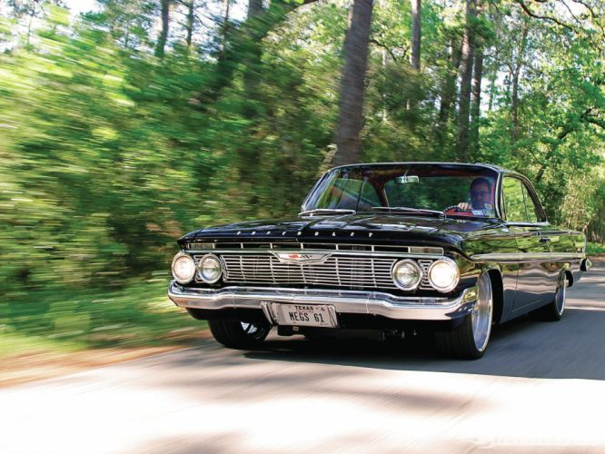 1961 Chevy Bel Air classic muscle cars hot rod wallpaper