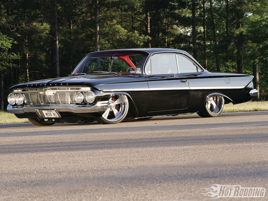 1961 Chevy Bel Air classic muscle cars hot rod      t wallpaper