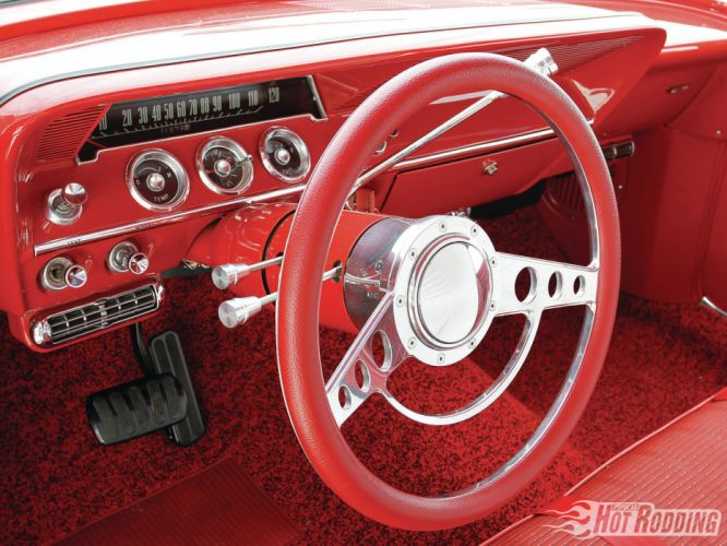 1961 Chevy Bel Air classic muscle cars hot rod interior dash wallpaper