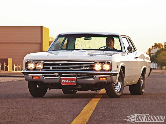 1966 Chevy Biscayne muscle cars hot rod d wallpaper