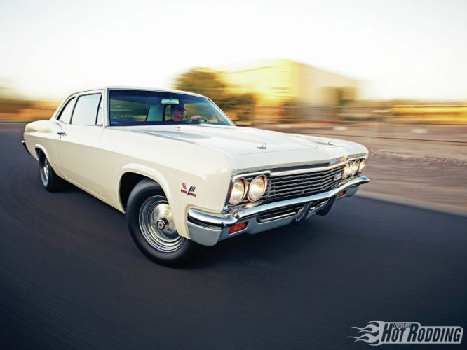 1966 Chevy Biscayne muscle cars hot rod wallpaper