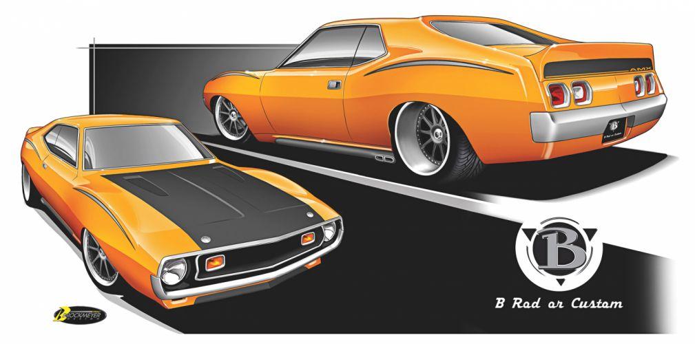 Amc Javelin muscle cars hot rod wallpaper