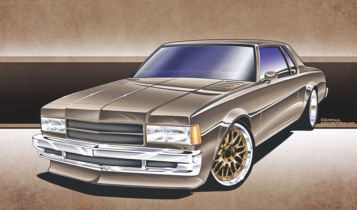 Chevy Caprice tuning hot rod custom wallpaper