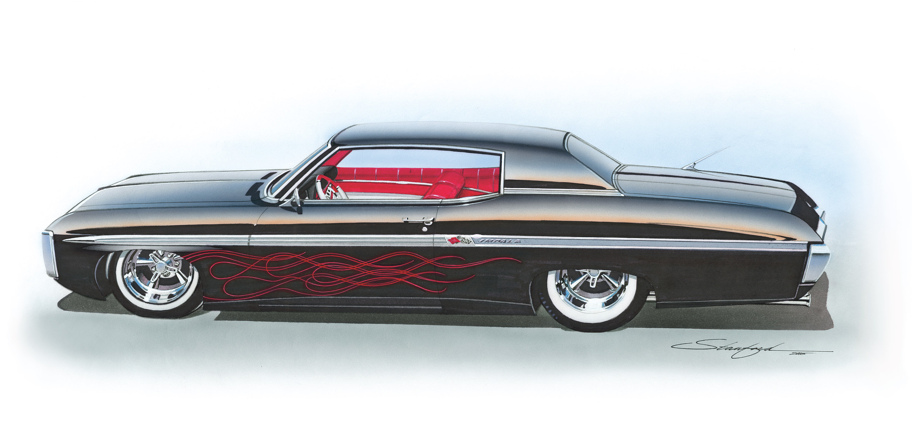 Chevy Hot Rod Impala Lowrider Classic Muscle Cars Wallpaper
