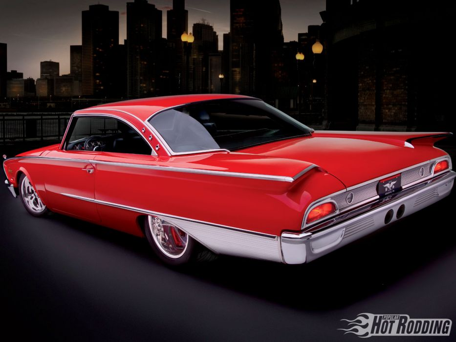 1960 Ford Starliner luxury classic hot rod lowrider cities  f wallpaper