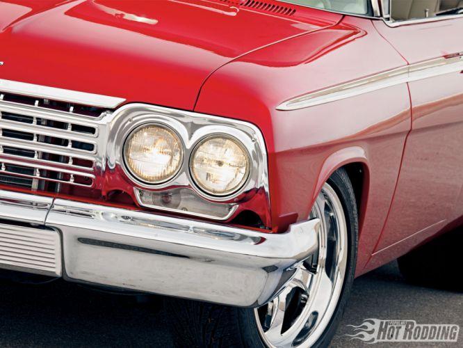 1962 Chevy Imapala hot rod muscle cars wheel headlight wallpaper