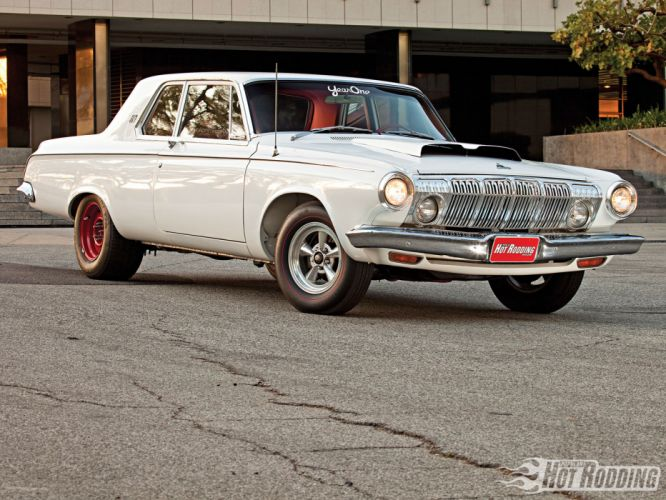 1963 Dodge 330 hot rod muscle cars w wallpaper