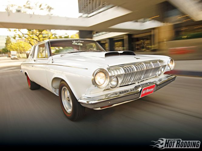 1963 Dodge 330 hot rod muscle cars wallpaper