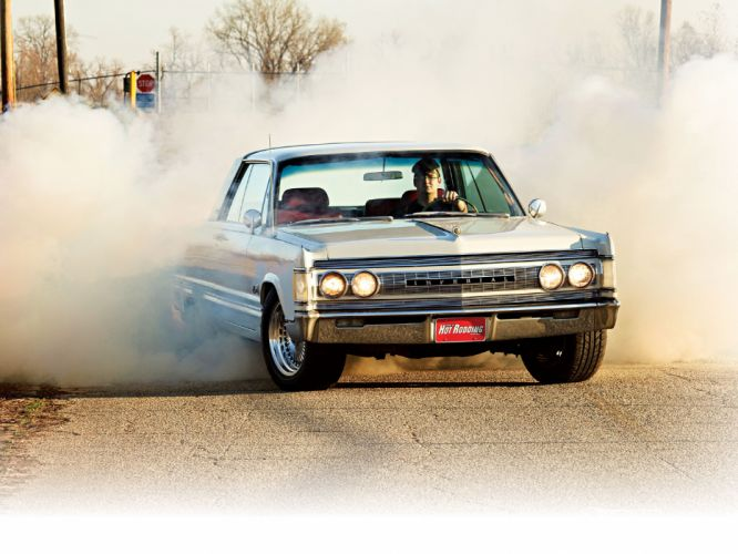 1967 Imperial Crown Coupe hot rod luxury burnout smoke wallpaper