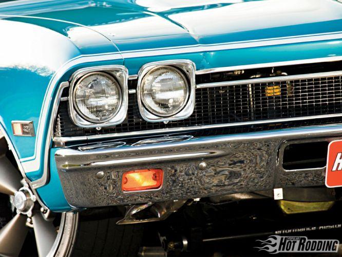 1968 Chevy Chevelle Ss muscle cars hot rod headlight wheel wallpaper