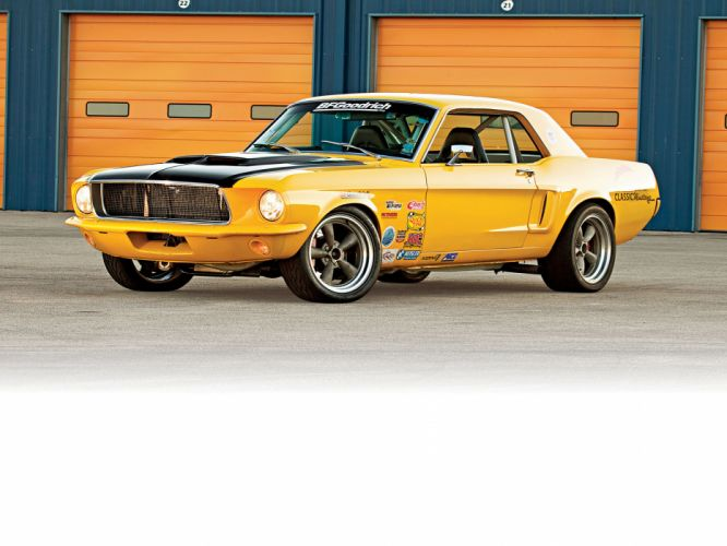 1968 Ford Mustang hot rod muscle cars g wallpaper
