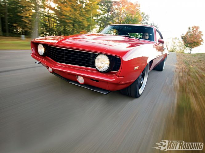 1969 Chevy Camaro hot rod muscle cars wallpaper
