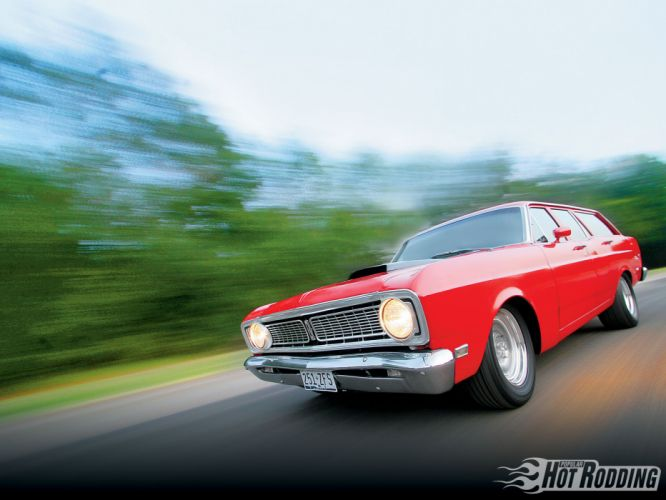 1969 Ford Falcon hot rod muscle cars stationwagons wallpaper