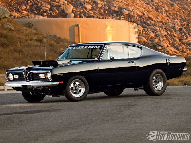 1969 Plymouth Barracuda hot rod muscle cars d wallpaper