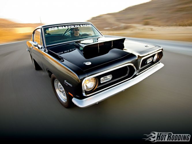 1969 Plymouth Barracuda hot rod muscle cars wallpaper