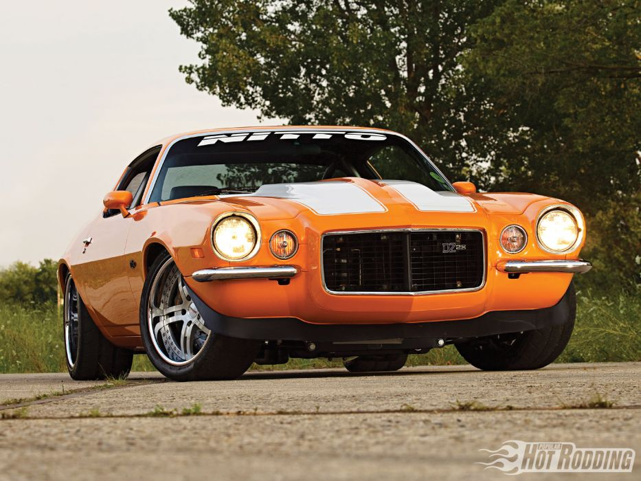 1970 Chevy Camaro hot rod muscle cars        d wallpaper