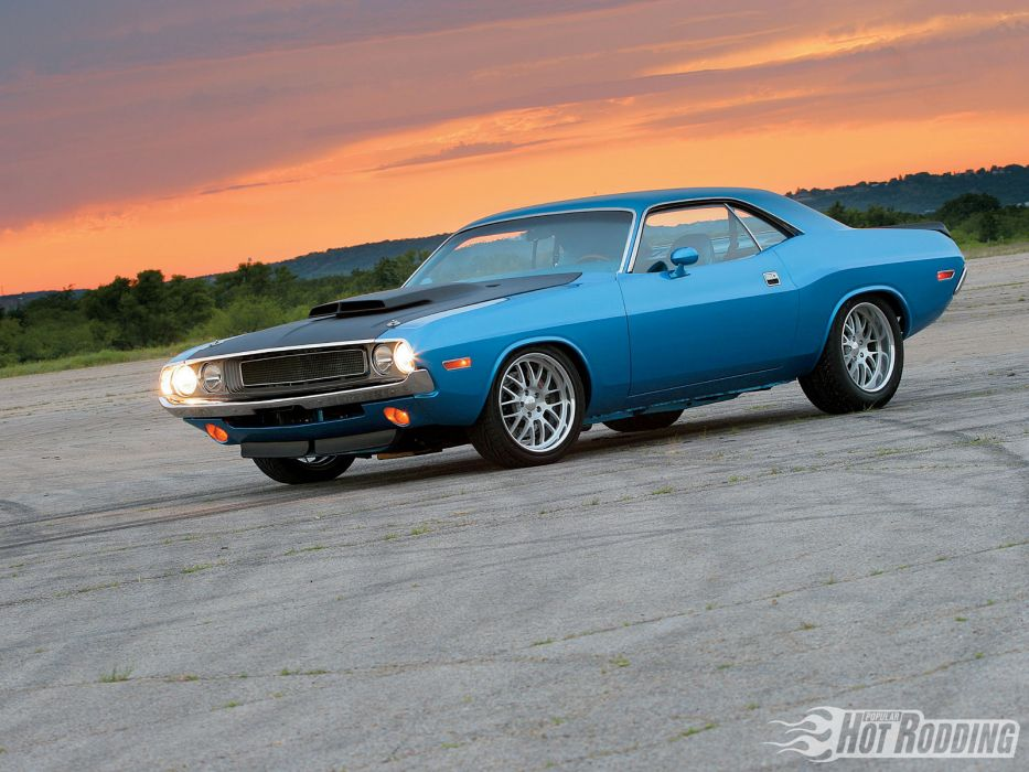 1970 Dodge Challenger hot rod muscle cars     n wallpaper