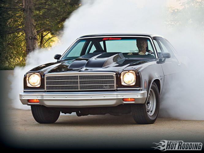 1974 Chevrolet Chevelle hot rod muscle cars burnout smoke wallpaper
