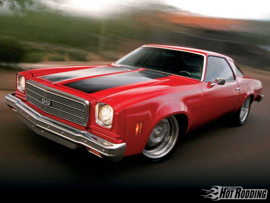 1974 Chevrolet Chevelle Malibu hot rod muscle cars wallpaper
