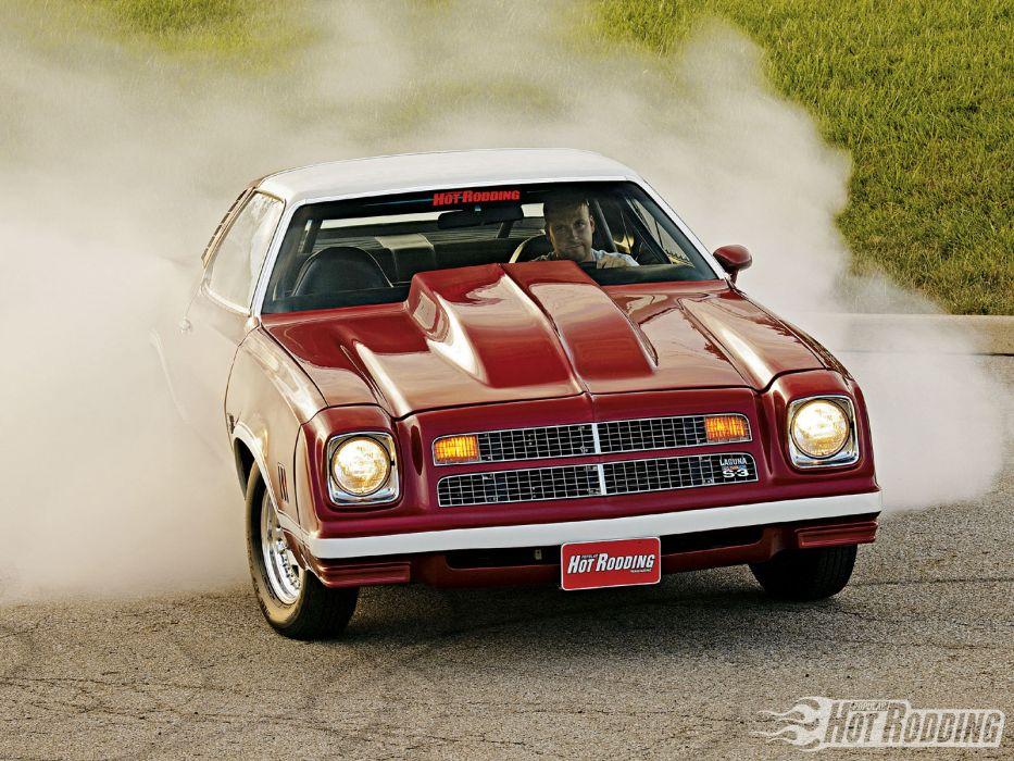1976 Chevy Laguna S3 hot rod muscle cars burnout smoke     f wallpaper