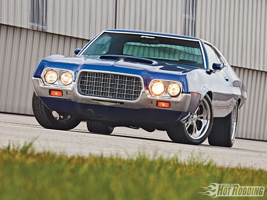 1972 Ford Torino hot rod muscle cars    f wallpaper