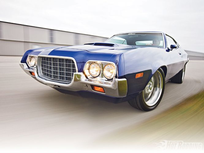1972 Ford Torino hot rod muscle cars wallpaper