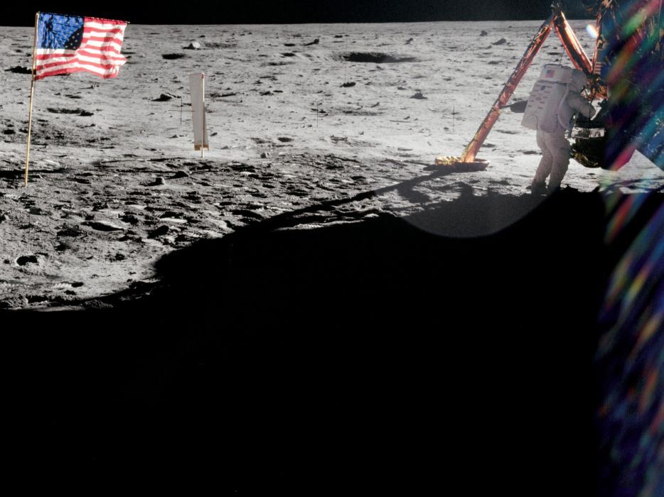 Armstrong on the Moon astronaut space wallpaper
