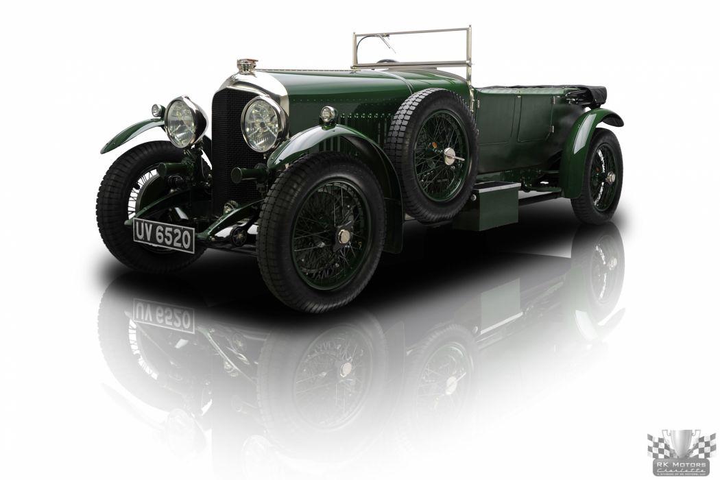 1928 Bentley Semi Le Mans Sports Tourer retro classic wallpaper