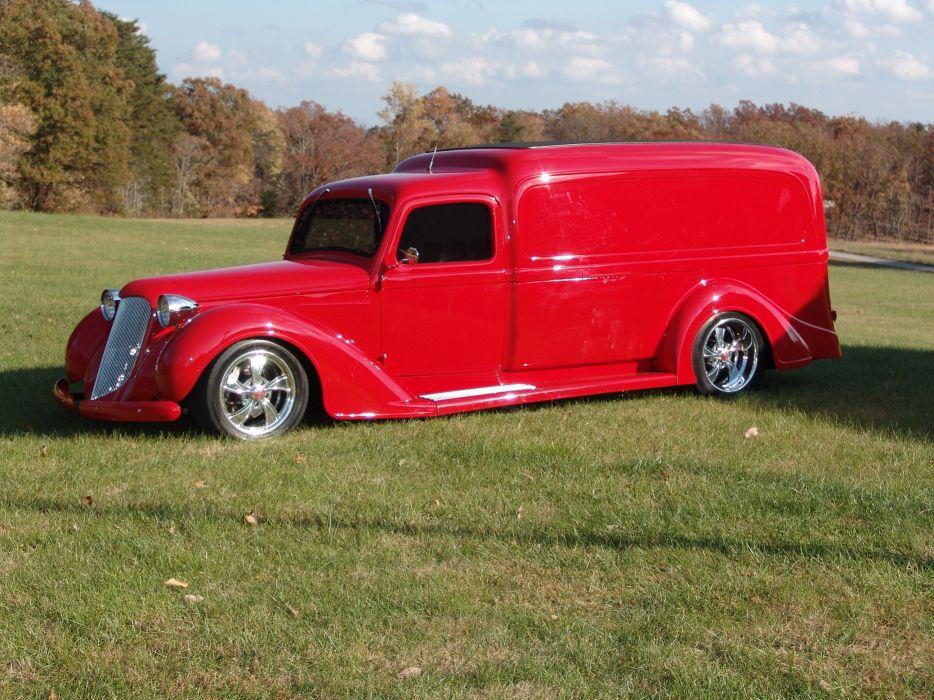 1936 Dodge panel truck custom retro hot rod classic cars       r_JPG wallpaper