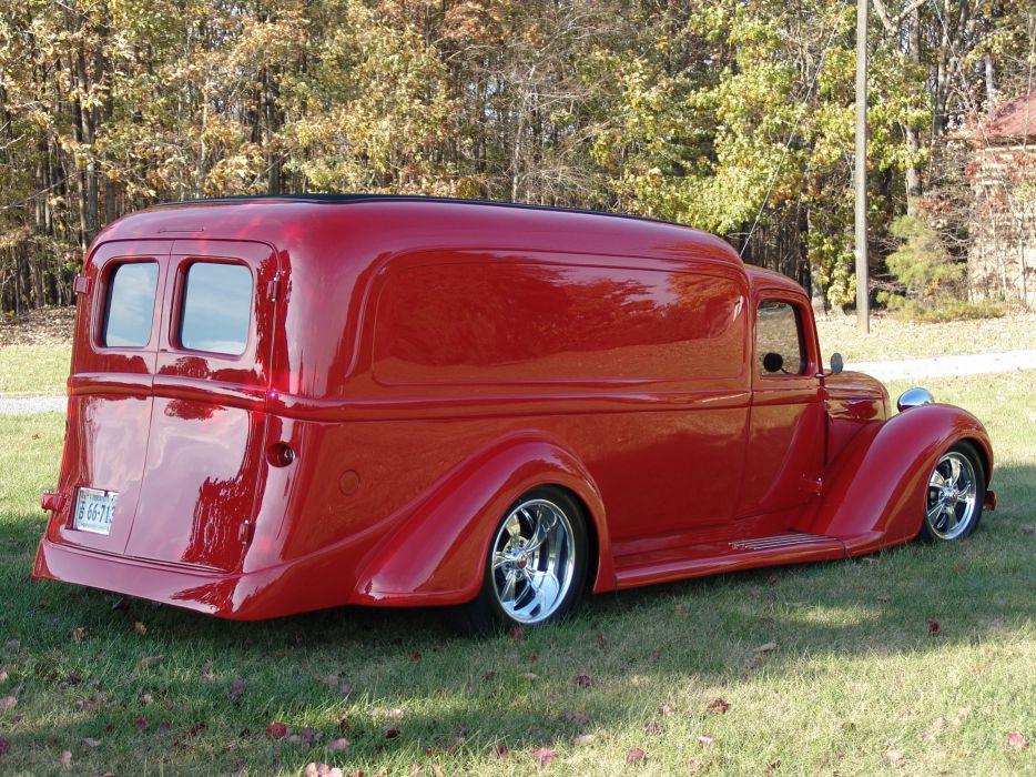 1936 Dodge panel truck custom retro hot rod classic cars     f_JPG wallpaper