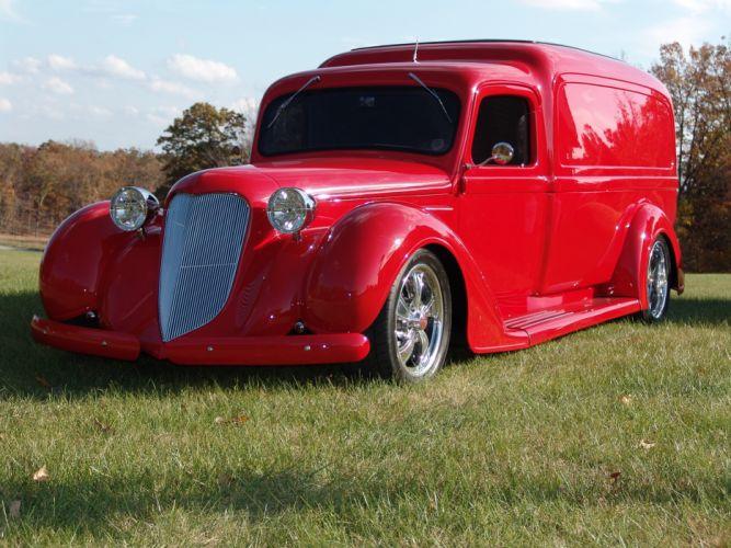 1936 Dodge panel truck custom retro hot rod classic cars g_JPG wallpaper
