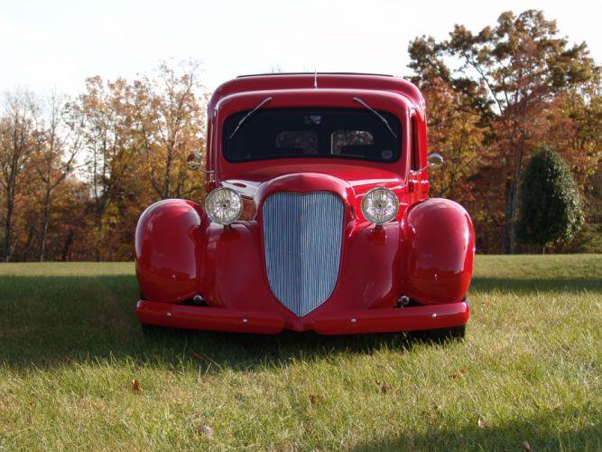 1936 Dodge panel truck custom retro hot rod classic cars j_JPG wallpaper