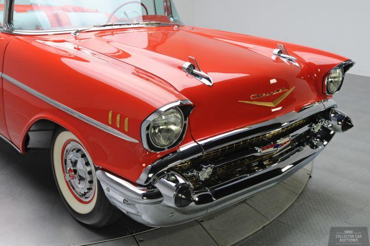 1957 Chevrolet BEL AIR CONVERTIBLE 283 classic cars h wallpaper