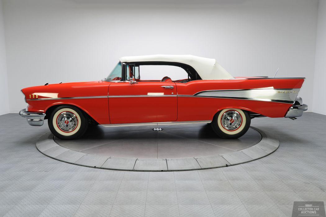 1957 Chevrolet BEL AIR CONVERTIBLE 283 classic cars   w wallpaper