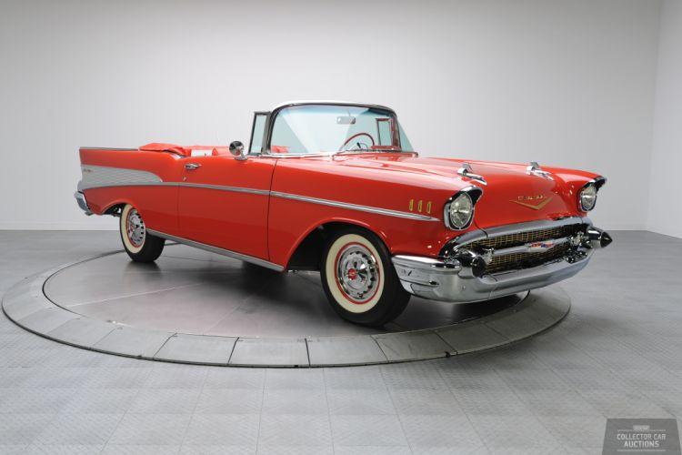 1957 Chevrolet BEL AIR CONVERTIBLE 283 classic cars f wallpaper